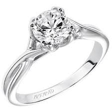 twist engagement ring solitude twist diamond engagement ring