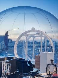 transparent mobile bathroom bubble