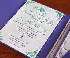 celtic letterpress wedding invitation gallery