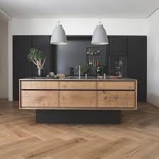 kitchen floating island wide timber herringbone flooring and floating kitchen
