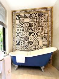 bathroom accent wall ideas tile accent wall in bathroom bathroom accent wall cement tile mosaic
