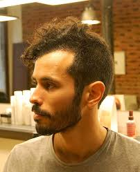 short hairstyle curly on top short curly haircut for men long buzz cut with hawk top