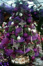 purple and silver christmas tree decorating ideas stunning