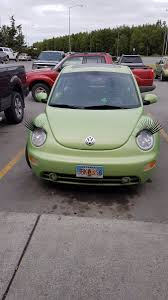 pink volkswagen beetle with eyelashes carlashes hashtag on twitter