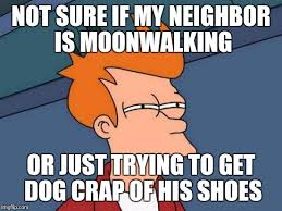 Fry Meme Generator - futurama fry meme not sure if my neighbor is moonwalking or just