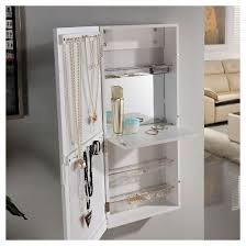Jewelry Armoire Over The Door Mirror Cabinet by Danya B Over The Door Jewelry And Makeup Cabinet Mirror With