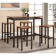 coaster 5 piece counter height table and chair set multiple