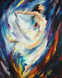 angel of love u2014 palette knife oil painting on canvas by leonid