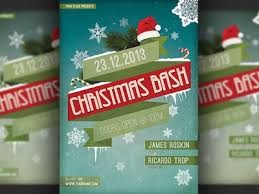 christmas bash party flyer template by christos andronicou dribbble