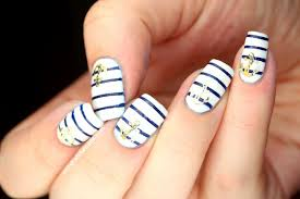 nail art annoying nautical nails with opi umpire comes out at