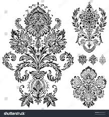 set vector damask ornaments easy edit stock vector 69983533