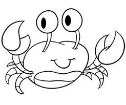 joli crabe coloriage de colorat pentru copii pinterest