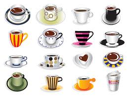 coffee cup illustration set vector download