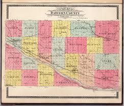 Nebraska County Map Dawson County Nebraska David Rumsey Historical Map Collection