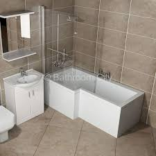 Bathroom Baths And Showers L Shaped Whirlpool Shower Bath Left Handed Buy At