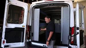 Shelves For Vans by Ford Transit Cargo Van Shelving Storage System Youtube