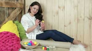 Decorate Easter Eggs Video by Little Painting Easter Eggs Stock Footage Video 6057926