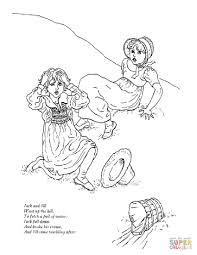 wonderful ideas jack and jill nursery rhyme coloring page top 10