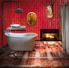 bathroom retro style photograph by setsiri silapasuwanchai