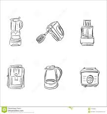 Kitchen Design Elements Vector Household Electronic Elements Royalty Free Stock