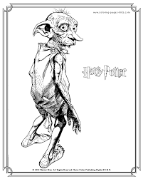 small monster harry potter coloring pages color online free