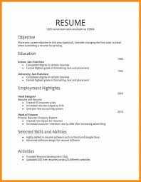 sample cvs for freshers 7 simple resume for freshers musicre sumed