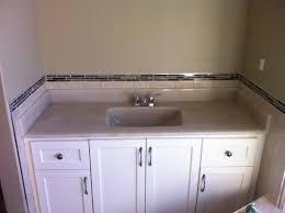 White Subway Tile Bathroom With White Vanity Simple White Bathroom Decoration Using White Grey Subway Tile