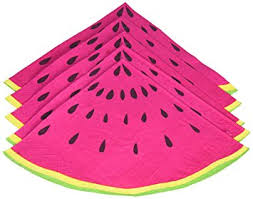 paper napkins summer fruits watermelon slice party paper