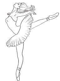 Coloring Interesting Ballerina Coloring Pages Ballet Coloring Ballerina Printable Coloring Pages