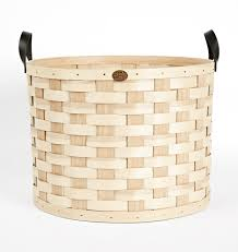 wicker basket with leather handles oversized ash wood u0026 leather round basket rejuvenation