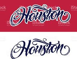 houston lettering in tattoo style stock vector art 609828462 istock