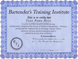 Mixologist Resume Example by Bartender U0027s Training Institute Course Outline