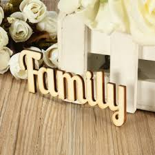 family wood retro family wooden words script sign ornament plaque table stand