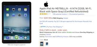 black friday deal on amazon ipad deal save more than 100 30 when you buy the ipad air