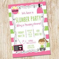 slumber party invitation sleepover invitation night owl