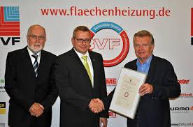Frenzelit Bad Berneck 22 Bvf Siegel Verliehen Bundesverband Flächenheizungen Und