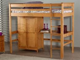 High Sleeper With Desk And Futon Buy Wooden Kids Beds Oak And Pine Beds At Mattressman