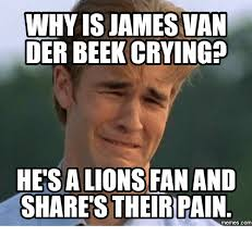 James Van Der Memes - why is james van der beekcryingp hetsalions fan and shares their