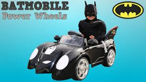 toddler motorized car unboxing new batman battery powered ride on batmobile 6v test