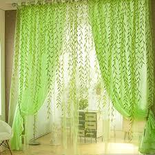 valances salix leaves floral tulle door window curtain drape pan
