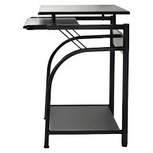 Desk With Pull Out Table Stanton Computer Desk With Pullout Keyboard Tray Black Comfort