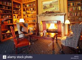 fireplace in library adare manor hotel adare county limerick