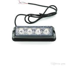 strobe light installation truck 4 led car truck emergency beacon light bar led strobe light