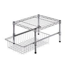 wire cabinet shelf organizer honey can do 11 in h x 15 in w x 18 in d adjustable steel shelf
