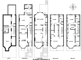 town home plans cool brownstone row house floor plans photos best inspiration