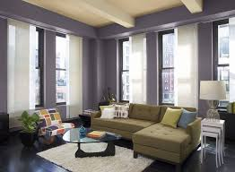 painting livingroom living room pages modern walls paint magazines blue leather
