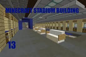 minecraft stadium building ep 13 away locker room youtube