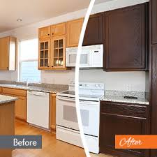 refinish kitchen cabinets paint or stain stained cabinet color change n hance wood refinishing of