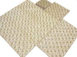 gold table runner and placemats handcrafted table decor set gold bead work tablecloth runner