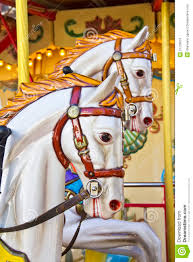 vintage carousel or merry go royalty free stock images